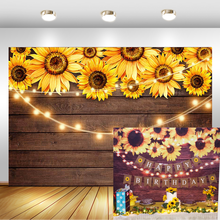 summer beach flower birthday party photography backdrops baby shower birthday backgrounds for photo studio blue sky white clouds Sunflower Wood Texture Backdrops for Photography Rustic Child Baby Shower Birthday Party Banner Backgrounds for Photo Studio