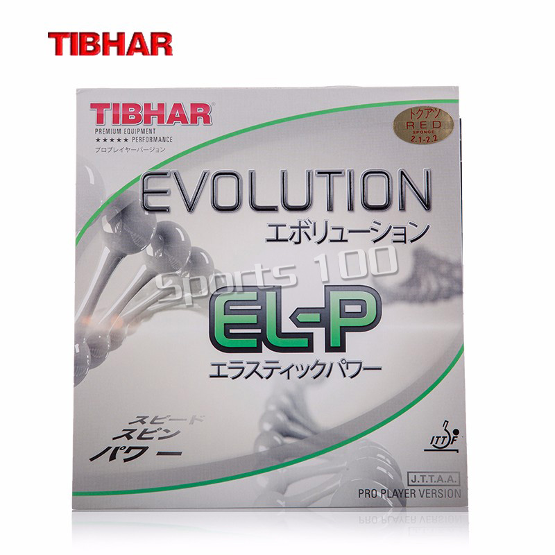 TIBHAR EVOLUTION ELP EL-P Non-tacky Cake Sponge Germany Table Tennis Rubber Pips-in Ping Pong Sponge TENERGY Style