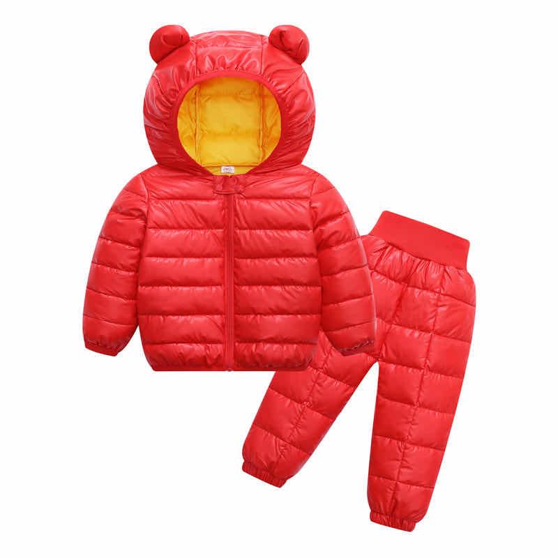 Winter Girls Boys Toddler Coat Kids Down Coat Winter Jackets Girls Outerwear Children Snowsuit Clothes 2PCS Set Doudoune Fille 1
