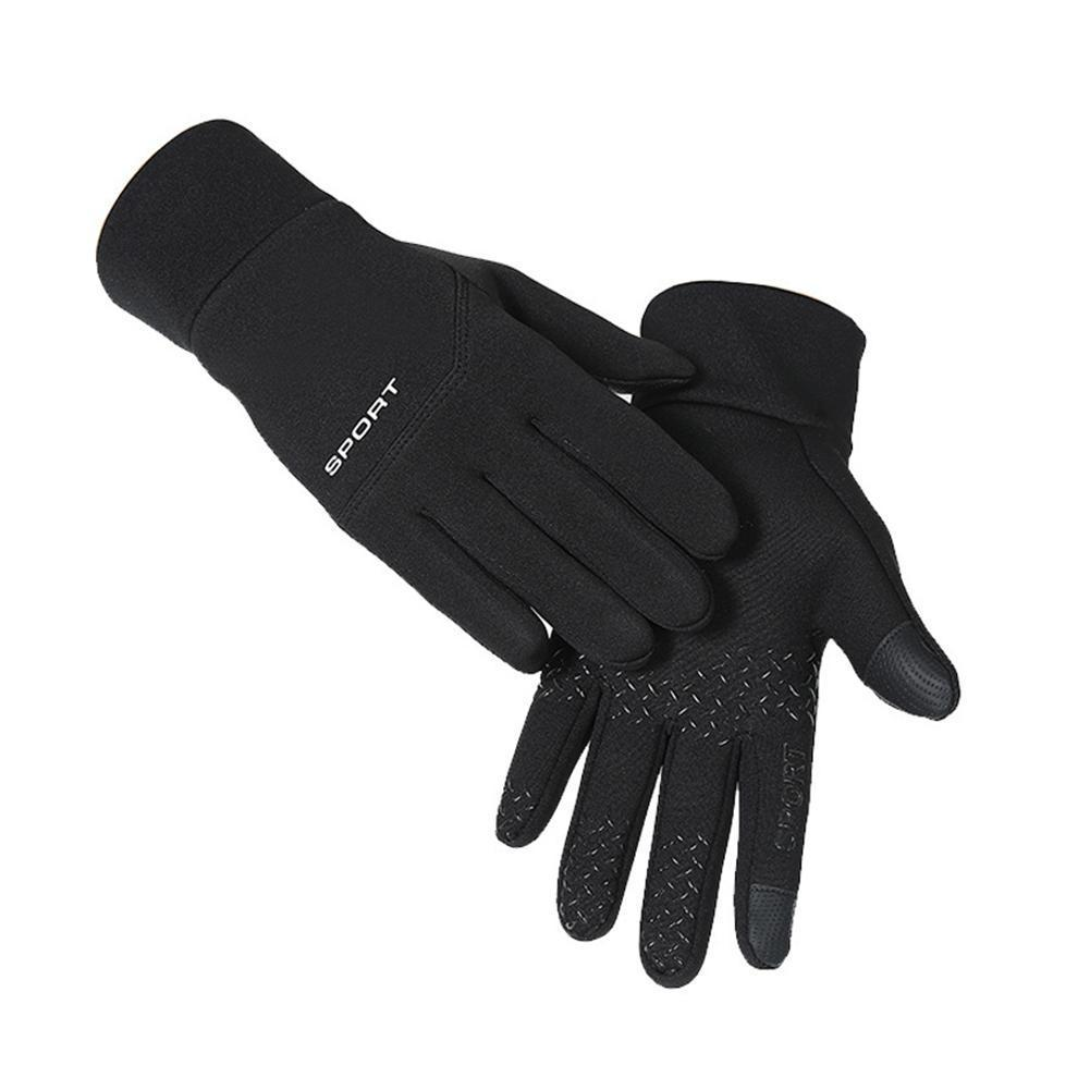 Winter Ski Plus Velvet Thick Warm Riding Gloves Men Women Waterproof Non-Slip Screen 4.0 Sports Gloves Outdoor Windproof Y1F1