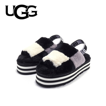 Original UGG Fur Slippers Slipper Sandals Women Luxury Fashion Fur Slippers Ladies Soft Comfortable Flat Shoes Home Shoes millffy wool slippers home package with comfortable men and women couple fur large size shoes mother pregnant women shoes