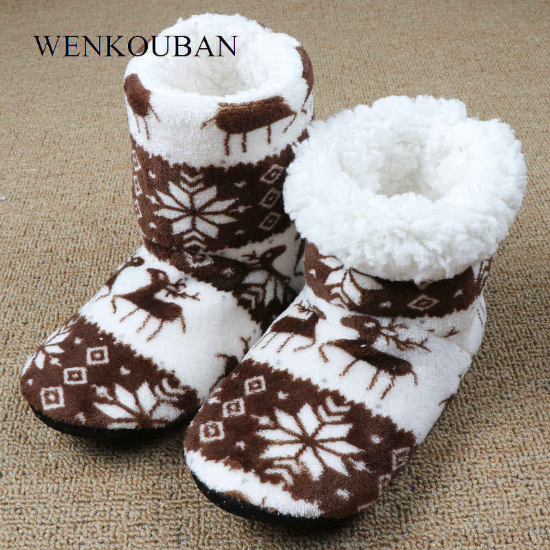 Kış kürk terlik kadınlar sıcak ev terlikleri peluş slaytlar noel pamuk kapalı ev ayakkabı zemin ayakkabı Claquette Fourrure