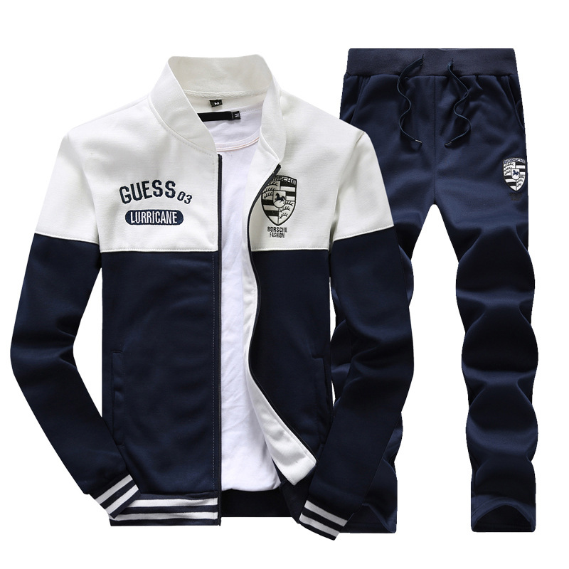 Sports Set Men 2019 Spring New Style Teenager Casual Spring And Autumn Plus Velvet Hoodie Men's Clothes Coat Men's