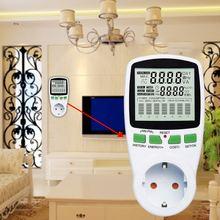 Digital LCD Energy Meter Wattmeter Leistung Strom Kwh Power Meter EU Französisch US UK AU Mess Outlet Power Analyzer