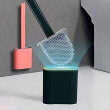 Силиконовая щетка для унитаза с плоской головкой гибкая мягкая