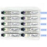 SC SFP волоконно-оптический модуль 1,25G SC 20/40/60/80/100 км 1310/1490/1550 нм одиночный волоконно-оптический модуль SFP совместимый код ONU OLT