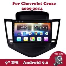 Android 9.0 IPS Multimedia Player For Chevrolet Cruze J300 2009-2014 Car Radio Head Unit Navigation GPS Navi Carplay OBDS DVB BT недорого