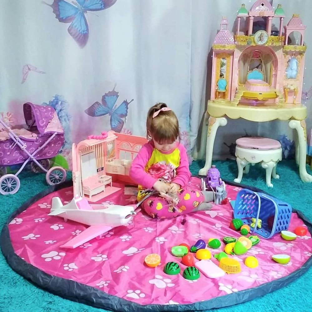 Safebet Portable Kids Toy Organizer Storage Bag and Play Mat Child Toys Organizer Storgae Bag Organizer for Toys