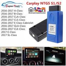 Ntg5s1 carplay para apple/android obd2 ferramenta de ativação automática ntg5 s1 carplay protocolo original comunicação para mercedes para benz