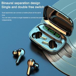 Image 5 - soleeanre Bluetooth Earphone 5.1 TWS Wireless Earphones LED with Microphone Waterproof Noise Cancel Headset Earbuds 2000mah