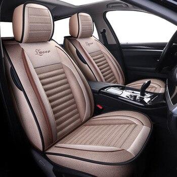 Flax Universal car seat covers for nissan rogue sentra sunny teana j31 j32 tiida versa x trail of 2018 2017 2016 2015