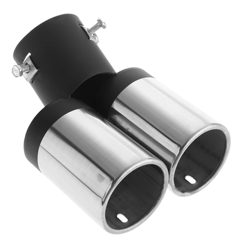 Universal Car Stainless Steel Exhaust Round Double End Muffler Tip Pipe 60mm image