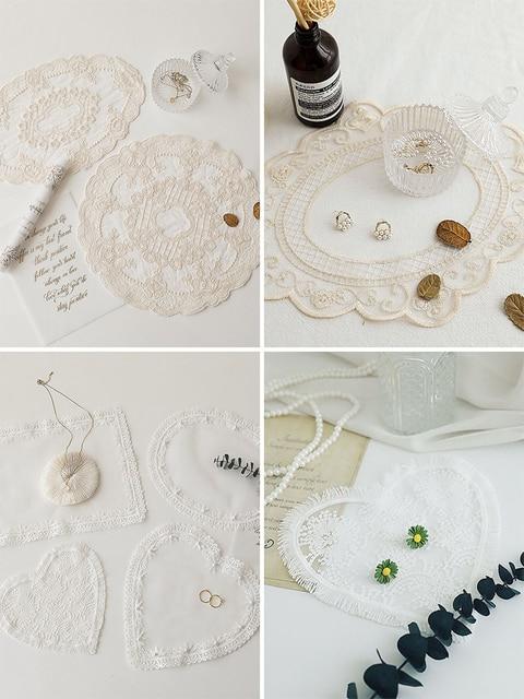 Accessoires de photographie en tissu de dentelle, broderie, Accessoires pour Studio de photographie, bijoux, boissons pour ongles
