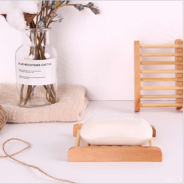 Home Storage NEUE Bad Dusche Seife Box Ablage Halter Fall Behälter Holz seifenschale