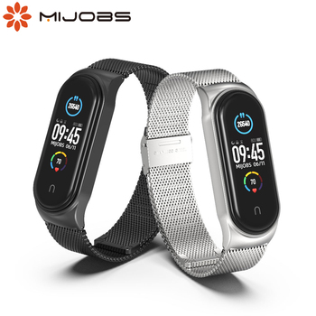 For Xiaomi Mi Band 5 Strap Miband 6 5 4 3 Metal Leather Bracelet Straps for Smart Watch Pulseira Correa for Xiomi NFC Wristbands 1