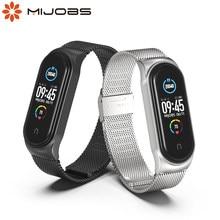 Para Xiaomi Mi banda 5 Correa Miband gota de 6 5 4 3 DE Metal pulsera de cuero correas de reloj inteligente Pulseira Correa para Xiomi NFC pulseras