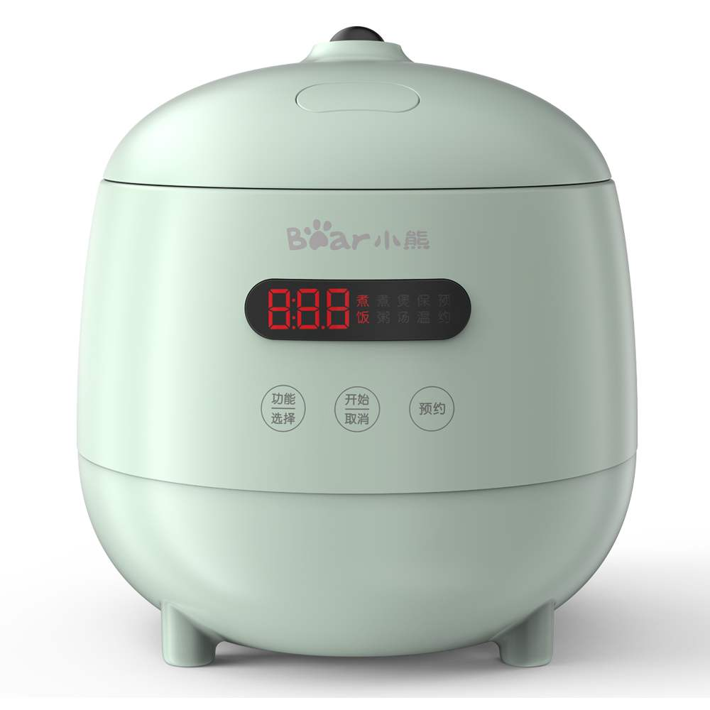 220V 1.2L Electric Rice Cooker Automatic Multi Cooker 300W Mini Portable Cooking Pot With Reservation EU/AU/UK/US Plug