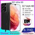 Galxy S21 ультра 5G 6,7 дюймов 16 ГБ 512 Android11 смартфон 6800 мА/ч, полный Экран Deca Core, размер экрана сети LTE глобальная версия мобильного телефона