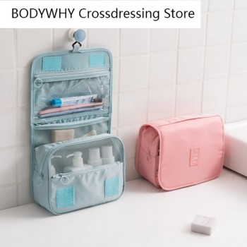 New Travel Hanging Cosmetic Bag Wash Bag Large Capacity Storage Bag Hook Cosmetic Bag Travel Portable Waterproof Wash Bag