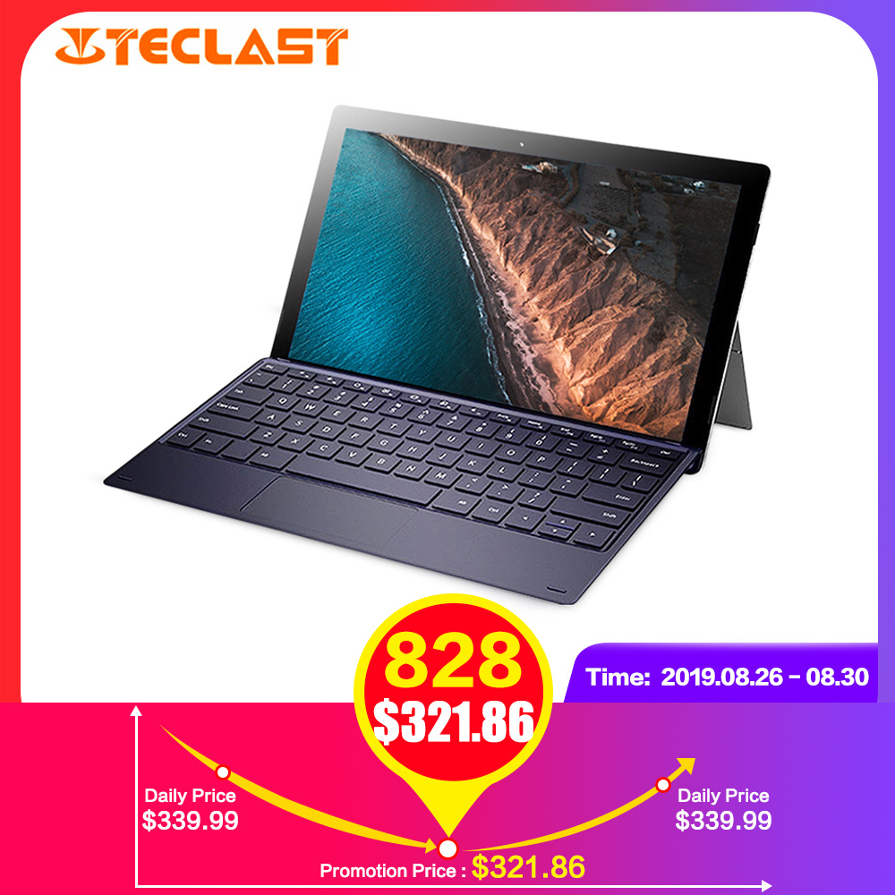 Teclast X4 2 em 1 Laptop Tablet 11.6 polegada Windows Celeron 10 N4100 8GB de RAM Quad Core 1.10GHz 128GB SSD 5.0MP HDMI com Teclado