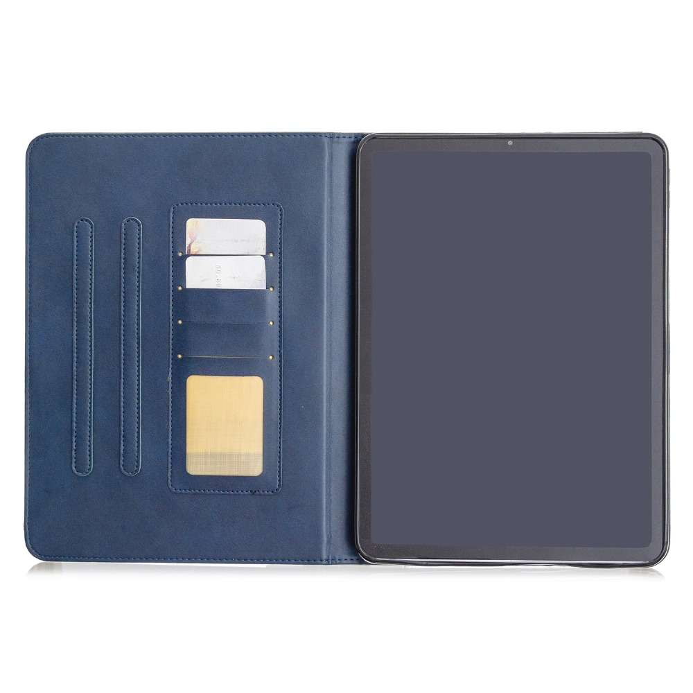 For Case iPad Cover PU Wallet 2020 Pro With 2018 Soft Leather Back Holder Silicone 12.9