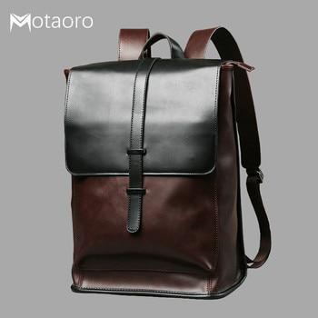 Laptop Leather Backpacks Men Travel Bag School Bags For Teenage Girls Anti Theft Black Backpack Women Mochila Feminina Sac A Dos 2019 women s backpack female back pack multifunctional mochila feminina school backpacks for teenage girls bags sac a main