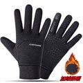 Перчатки для занятий спортом на открытом воздухе, зимние теплые перчатки с пальцами для сенсорных экранов, для спортзала, фитнеса, мужские и...