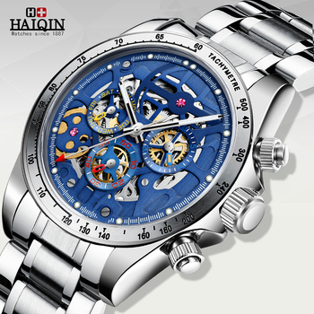 HAIQIN Men mechanical wristwatches men top brand luxury watch mens watch automatic waterproof Gemstone Tourbillon Reloj hombres