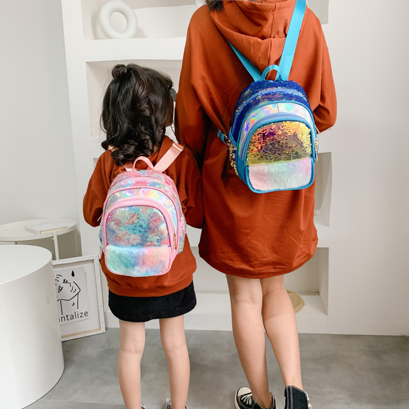 Princess Extra Small Kids CHILDREN'S Rucksack Primary School Cute Sequin Travel Backpack GIRL'S Fashion Korean-style Korean-styl