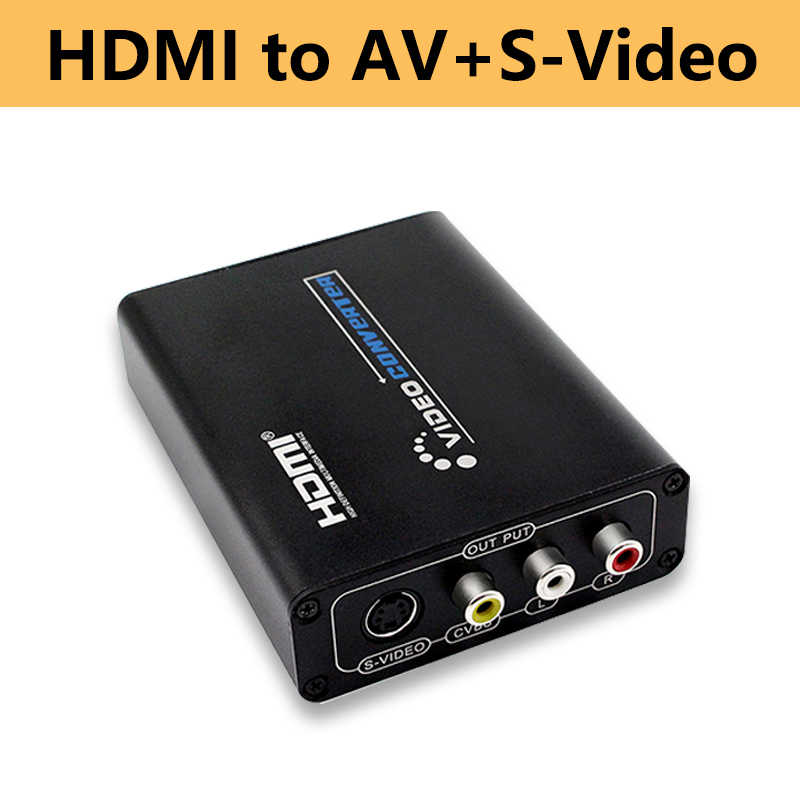 HDMI untuk AV Svideo CVBS L R Video Converter Switcher Adaptor Mendukung 1080 P 3RCA PAL/NTSC untuk TV blue-Ray DVD Set Top Box