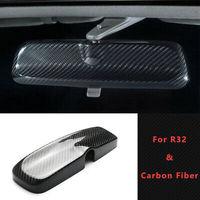 Carbon Fiber Glossy For Nissan R32 R33 GTS GTR Skyline Room Rear View Mirror cover Interior EPR Body kits Car accessories