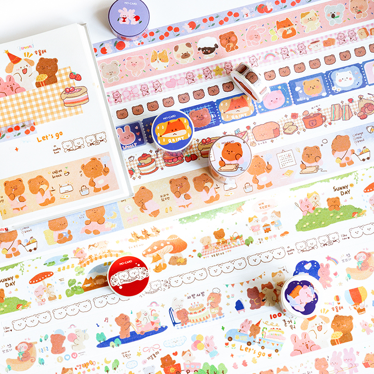 12PCS/LOT Cute Crit Series Decoration Stickers Decorative Tape Maksing Tape Washi Tape
