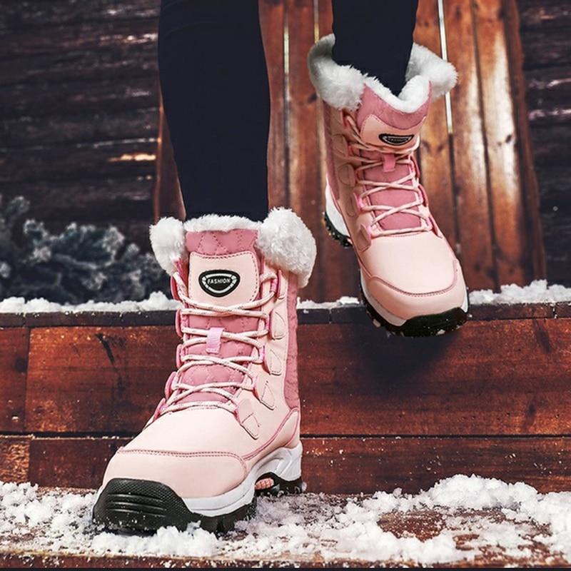 KAMUCC New Women Boots Women's Winter Boots Shoes Woman Snow Boots Women's Boots Winter Boots for Women Winter Shoes Ankle Boots 45