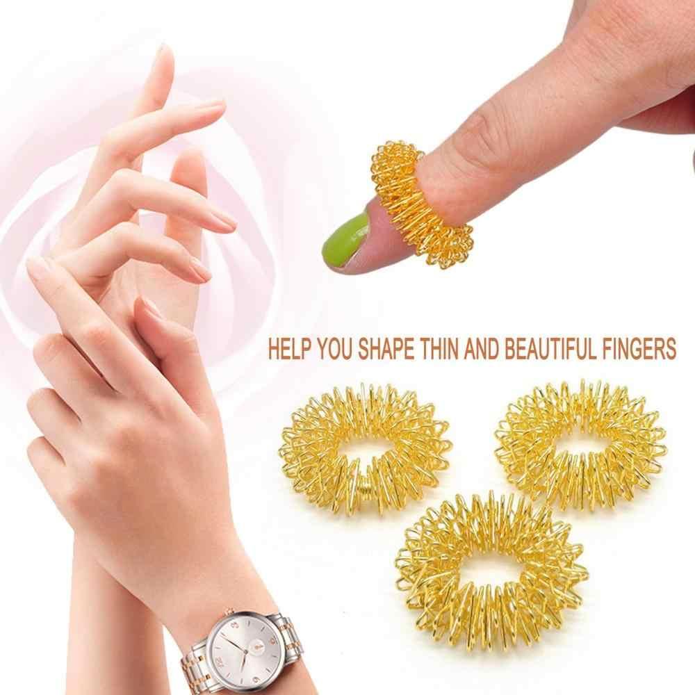 1pc palec masaż pierścień masaż akupunkturowy pierścień opieki zdrowotnej masaż ciała relaks kształt cienki piękny palec