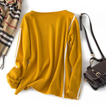 Shuchan Casual Geometric Korean Sweater O-Neck Computer Knitted Criss-Cross  Sweaters Fashion 2019 Women Yellow