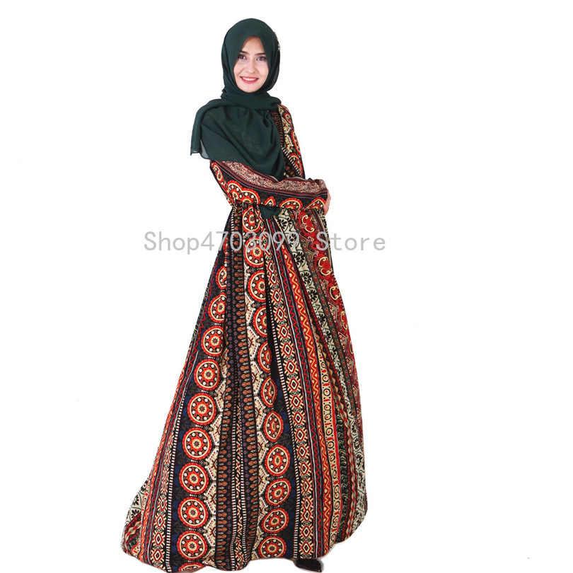Vestido musulmán Vintage Abaya ropa islámica para mujeres Malasia Jilbab Djellaba bata muselmane turco Baju Kimono Kaftan túnica