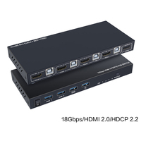 HDMI 2.0 KVM 4 Ports Switcher Computer Host Support 4K 60Hz Monitor TV Mouse Keyboard Type A Type B USB Sharer HDMI in&out