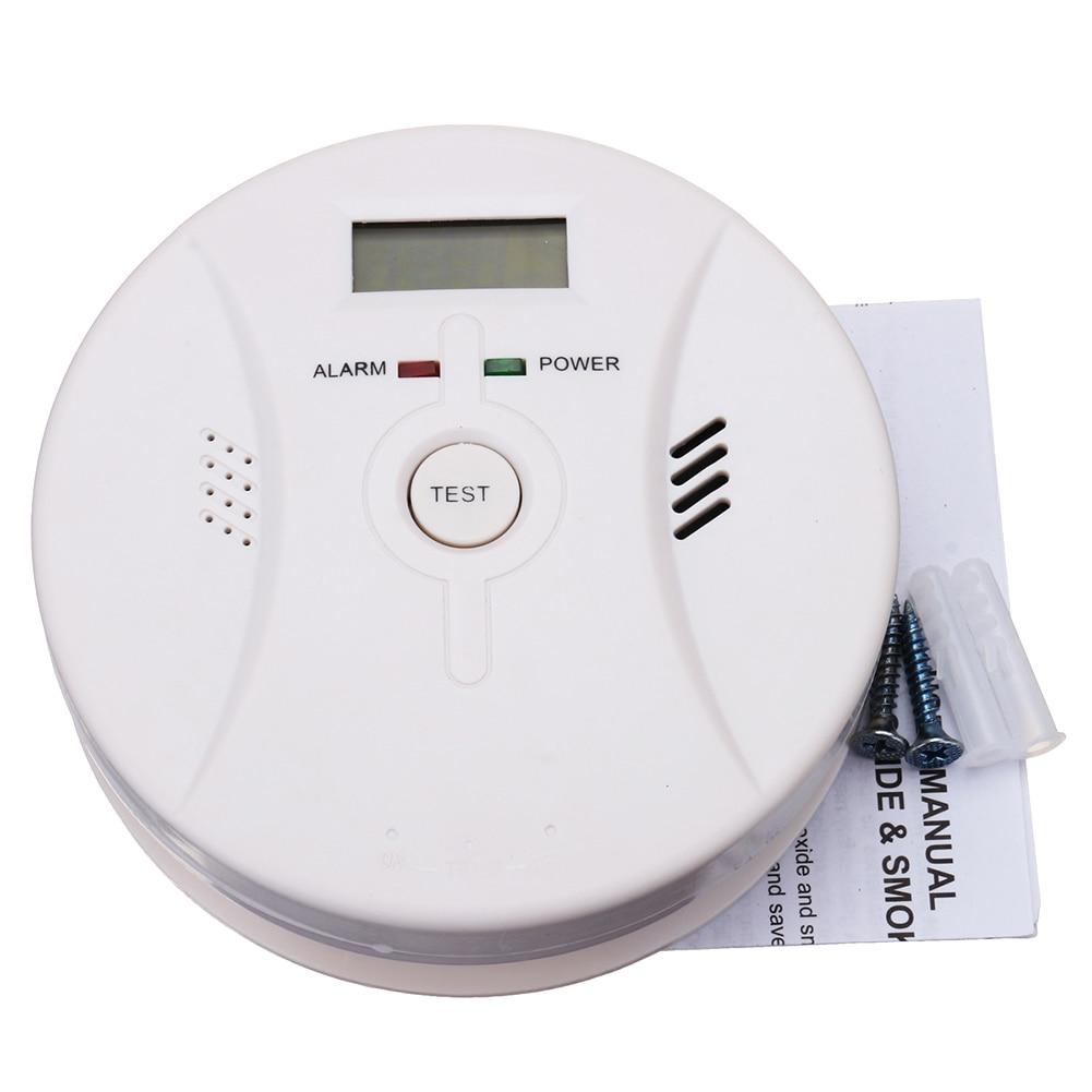 2 In 1 Combination Carbon Monoxide + Smoke Alarm Battery Operate CO & Smoke Detector Hi Dropship