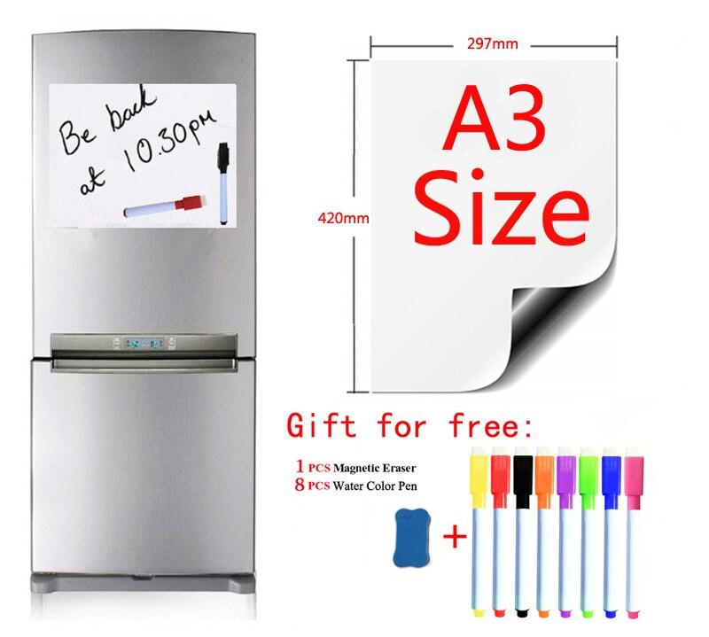 Whiteboard For Kids Stickers Dry Erase Calendar Magnetic Soft White Boar Magnet Board Fridge For School Home Office Kitchen