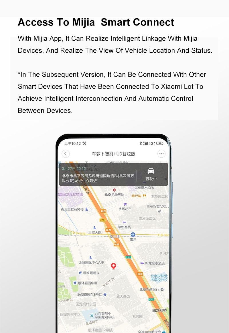Youpin carrobot inteligência carro hud cabo gps