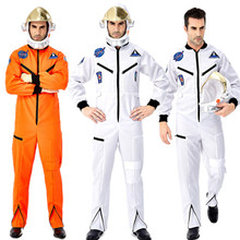 Halloween Cosplay Overalls Helmet Flight-Space Pilots Astronaut Jumpsuit Adult Men