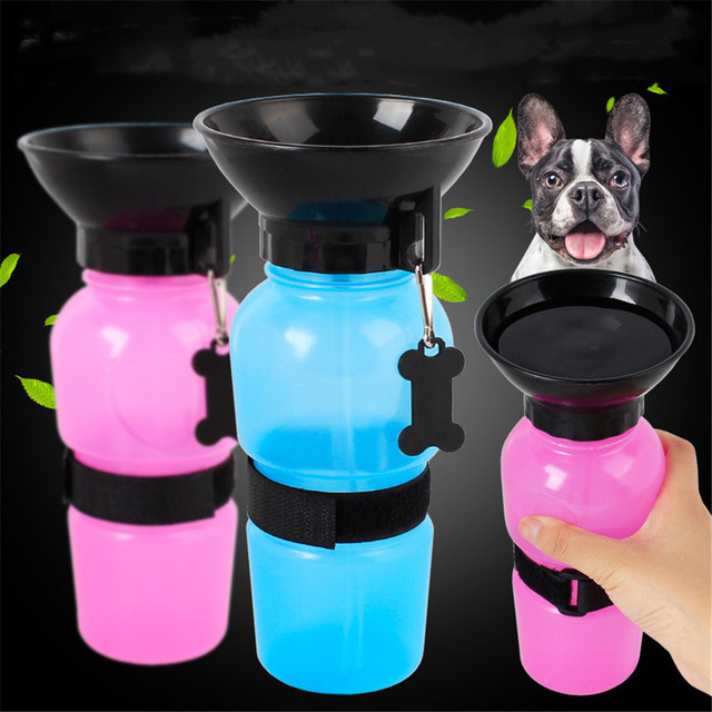 Pet Dog Drinking Water Bottle Sports Squeeze Type Puppy Cat Portable Travel Outdoor Feed Bowl Drinking Water Jug Cup Dispenser 2