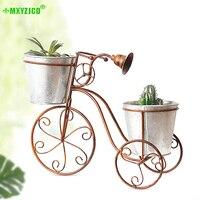 Wrought Iron Bicycle Flower Pot Double Detachable Flower Stand Garden Plant Potted Decoration Office Desktop Crafts