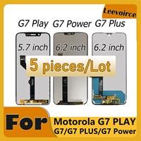 5 unids/lote LCD para Motorola Moto G7 jugar XT1952 G7 XT1962 G7 de G7 Plus pantalla LCD Panel de pantalla táctil digitalizador Asamblea