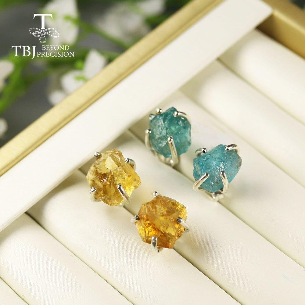 Rough Tanzanite Gemstone Gold Plated 925 Silver Designer Earrings Jewelry