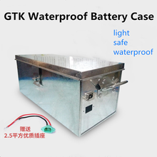 GTK Lithium battery stainless stell shell 48v 60v 72v 12Ah 32Ah waterproof shell for three-wheel electric vehicle battery(China)