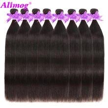 Alimog cheveux prix de gros paquets offres péruvien cheveux raides faisceaux 100% cheveux humains non pressé humain vierge cheveux faisceaux