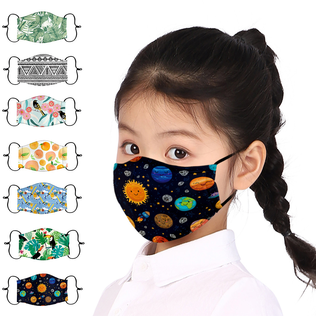 Children Cartoon Dust Dustproof Mouth Mask Breathable Washable Lightweight Breathable Kids Cotton Mouth Face Mask Warm Winter