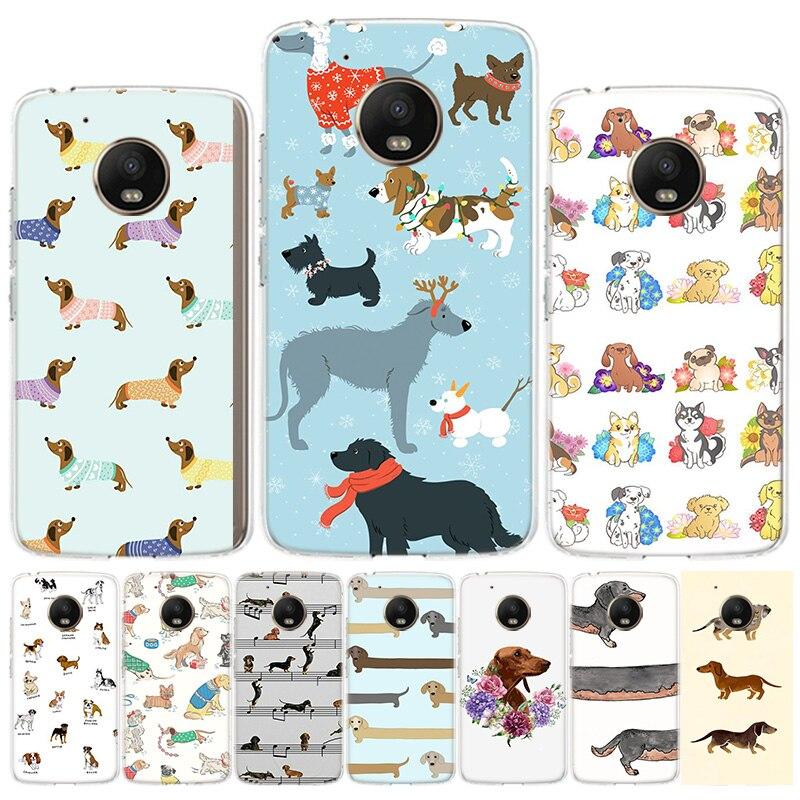 Dachshund Dog Phone Case For Motorola Moto G8 G7power G6 G5S G5 E6 E5 E4plus Play G4 One Action X4 EU Cover
