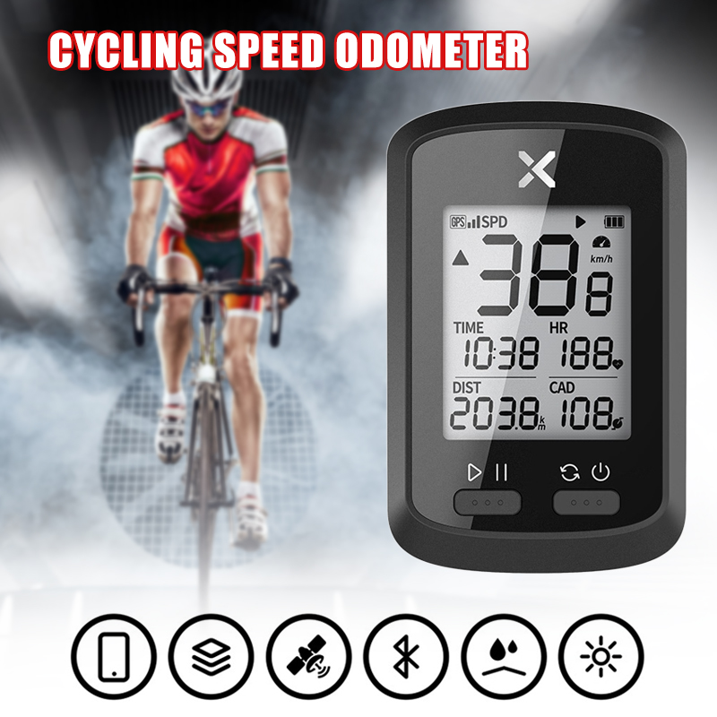 2020 <font><b>GPS</b></font> <font><b>Bike</b></font> Wireless <font><b>Computer</b></font> Cycling Speedometer Bluetooth Odometer for Road <font><b>Bike</b></font> Mountain Bicycle ED889 image